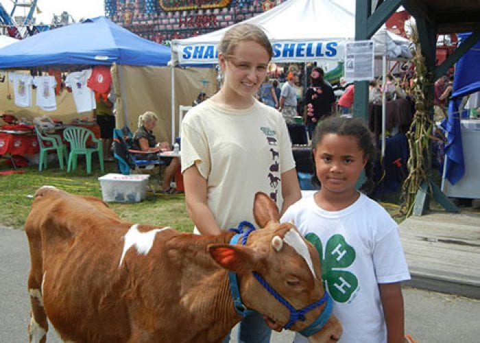 Girls with a Calf | 4H Program