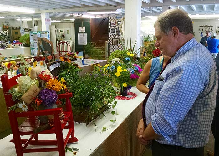 Judge at Horticulture Contest