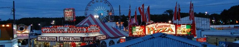 Aerial Night View of the Fair   Annual Marshfield Fair