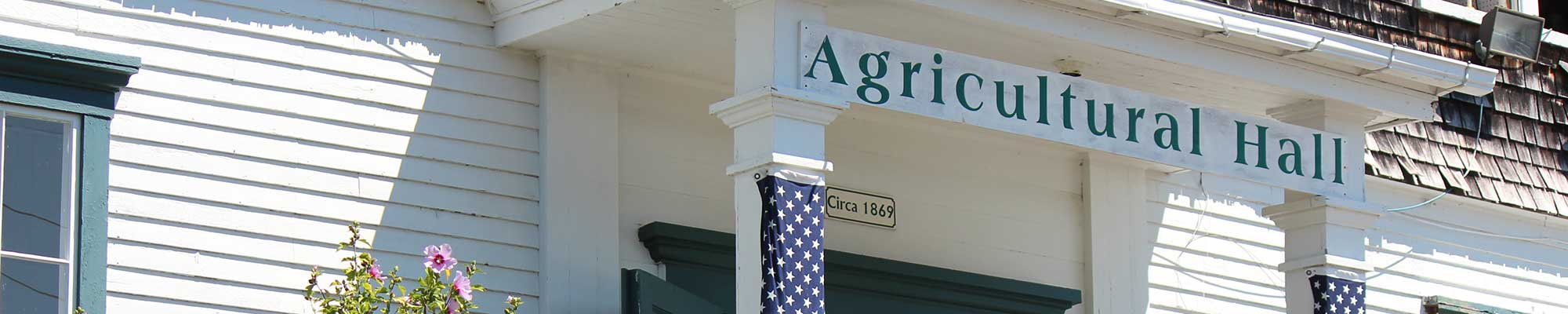 Agricultural Hall Sign