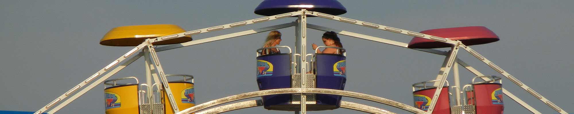 Two People on Ferris Wheel