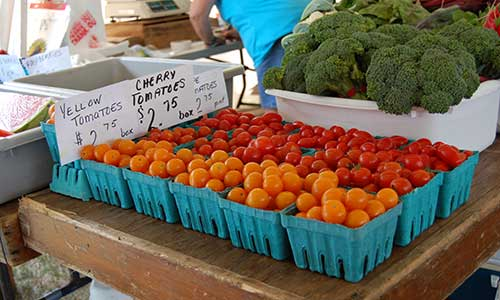 Pints of Yellow and Cherry Tomatoes for Sale